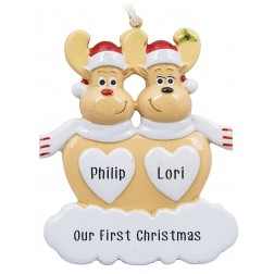 Image of Sweet Reindeer-2 Personalized Christmas Ornament
