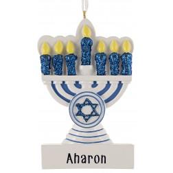 Image of Hanukkah Personalized Christmas Ornament