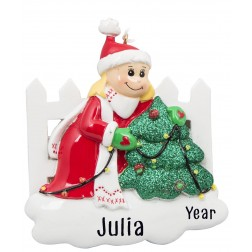 Image of Decoration Girl Personalized Christmas Ornament