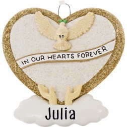 Image of Loving Memory Gold Personalized Christmas Ornament