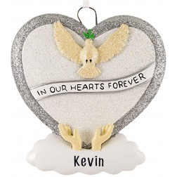 Image of Loving Memory Silver Personalized Christmas Ornament