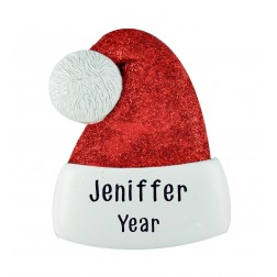 Image for Santa Hat Personalized Christmas Ornament