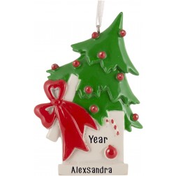 Image for Christmas Tree Surprise Box Personalized Christmas Ornament