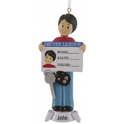 Image of Driver License Boy Personalized Christmas Ornament