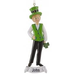 Image of Irish Boy Personalized Christmas Ornament
