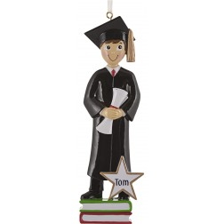 Image of Graduation Boy Personalized Christmas Ornament