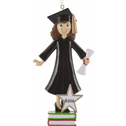 Image of Graduation Girl Personalized Christmas Ornament