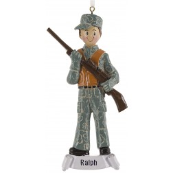 Image of Hunting Boy Personalized Christmas Ornament