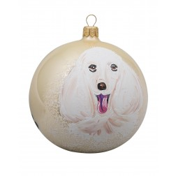 Poodle - White Personalized Christmas Ornament