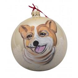 Corgi Glass Ball Christmas Ornament