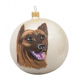 German Shepherd Glass Ball Christmas Ornament