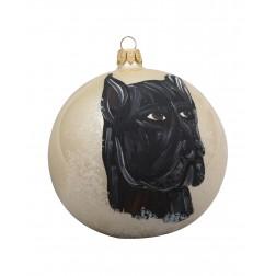Great Dane Glass Ball Christmas Ornament