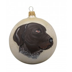 Weimaraner Glass Ball Christmas Ornament