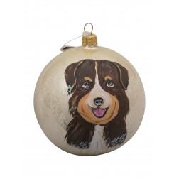 Australian Shepherd Glass Ball Christmas Ornament