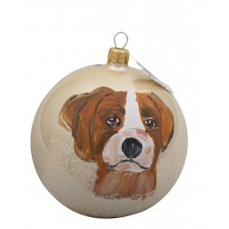 Brittany Glass Ball Christmas Ornament