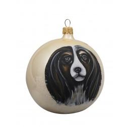 Cavalier King Charles Spaniel Glass Ball Christmas Ornament