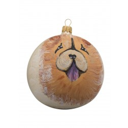 Chow Chow Glass Ball Christmas Ornament
