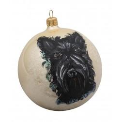 Scottish Terrier Glass Ball Christmas Ornament