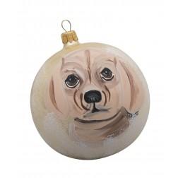 Puggle Glass Ball Christmas Ornament