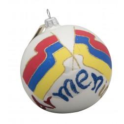 Flag of Armenia Glass Ball Christmas Ornament