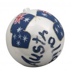 Flag of Australia Glass Ball Christmas Ornament