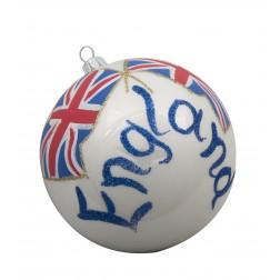 Image of Flag of England Glass Ball Christmas Ornament