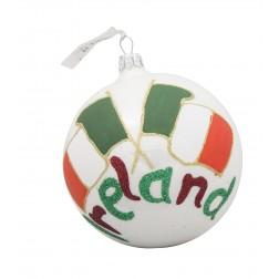 Image of Flag of Ireland Glass Ball Christmas Ornament