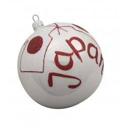 Image of Flag of Japan Glass Ball Christmas Ornament