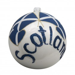 Image of Flag of Scotland Glass Ball Christmas Ornament