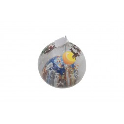 Image of NYC Bubble Clear Glass Ball Christmas Ornament