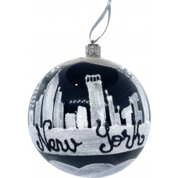 Image of New York City Black Sky Glass Ball Ornament