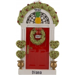 Image of Red Door Personalized Christmas Ornament
