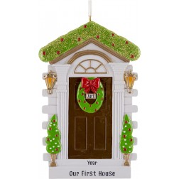 Image of Brown Door Personalized Christmas Ornament