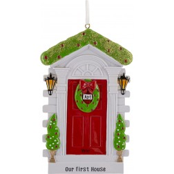 Image of Christmas Door - Red Personalized Christmas Ornament