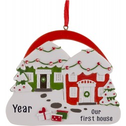 Image of Neighbors Doors Personalized Christmas Ornament
