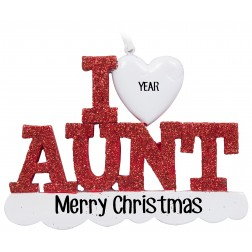 Image of I Love My Aunt Personalized Christmas Ornament
