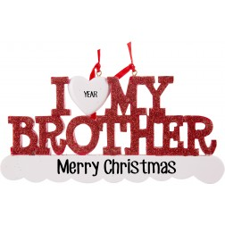 Image for I Love My Brother Personalized Ornament