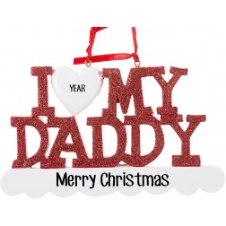 Image for I Love My Daddy Personalized Christmas Ornament