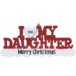Image for I Love My Daughter Personalized Christmas Ornament