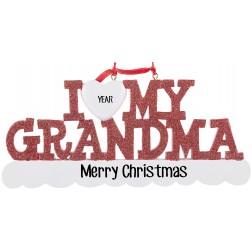 Image of I Love My Grandma Personalized Christmas Ornament
