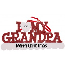 Image of I Love My Grandpa Personalized Christmas Ornament