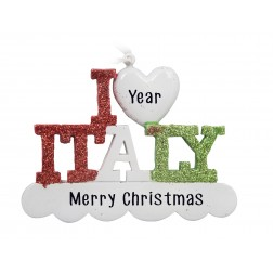 Image of Italy Personalized Christmas Ornament