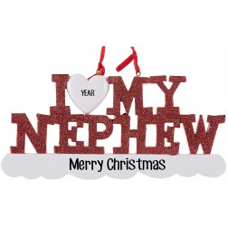 Image of I Love My Nephew Personalized Christmas Ornament