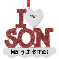 Image of  I Love My Son Personalized Christmas Ornament
