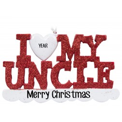 Image of I Love My Uncle Personalized Christmas Ornament