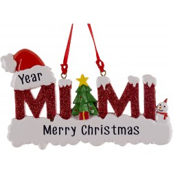 Image of Miami Red Personalized Christmas Ornament