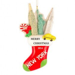NY Stocking Personalized Christmas Ornament