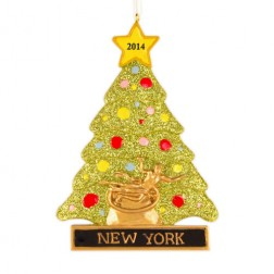 Rockefeller Tree Personalized Christmas Ornament