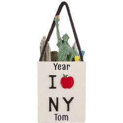 Image for NY Shopping Bag 3D Personalized Christmas Ornament