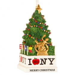 Image for NYC Tree 3D Personalized Christmas Ornament
